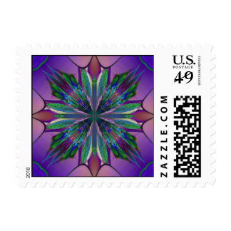 Stained Glass Gardenia Stamps Postage
