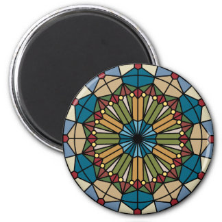 stained glass geometric pattern design modern magnet