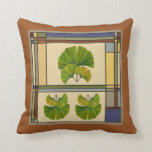 Stained Glass Ginko Pillow
