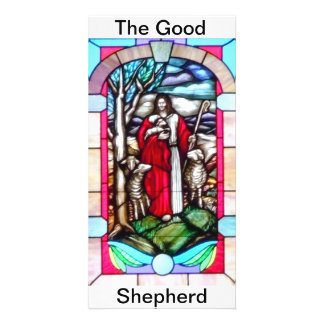 Stained Glass Good Shepherd Card
