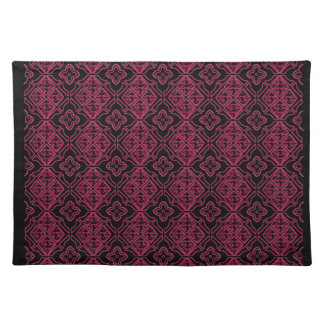 Stained Glass Gothic Purple Black Cloth Placemat