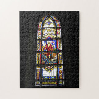 Stained glass gothic window Catholic cathedral Puzzles