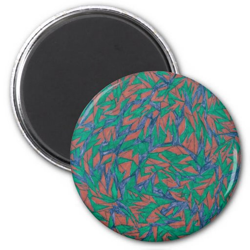 stained glass grafetti magnet