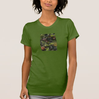 Stained Glass Grapes Ladies T-Shirt