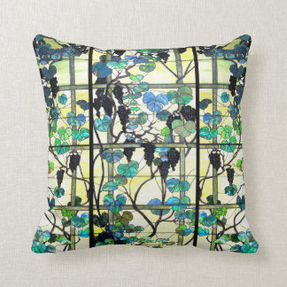 Stained Glass Grapevine Throw Pillow