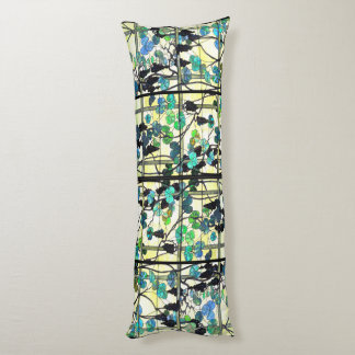 Stained Glass Grapevines Body Pillow