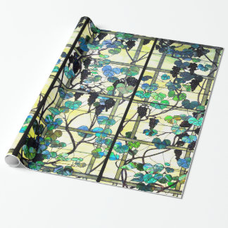 Stained Glass Grapevines Wrapping Paper