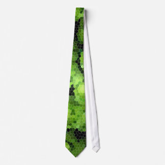 Stained Glass Green Rose Necktie