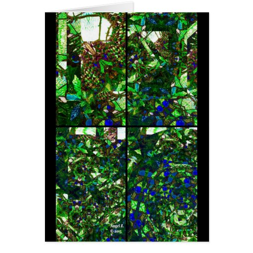 Stained glass greeting card zazzle