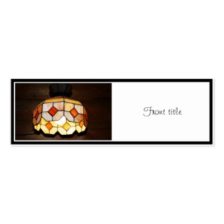 Stained Glass Hanging Lamp Business Cards