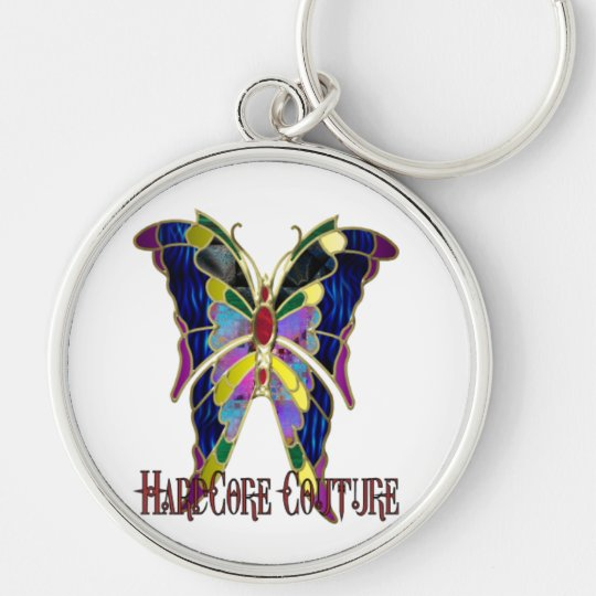 Stained Glass Hardcore Couture Butterfly Keychain