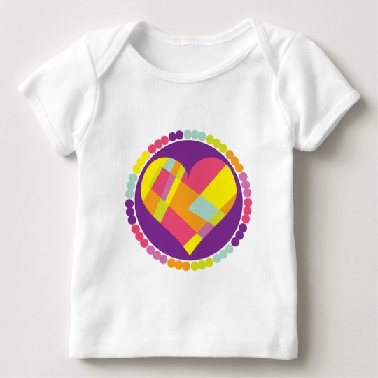 Stained Glass Heart Baby T-Shirt