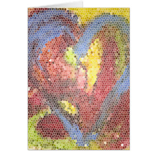 Stained Glass Heart Card