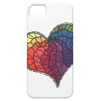 stained glass heart iPhone 5/5S case