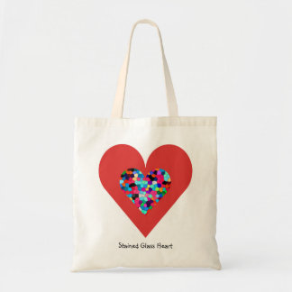 Stained Glass Heart I Tote Bag