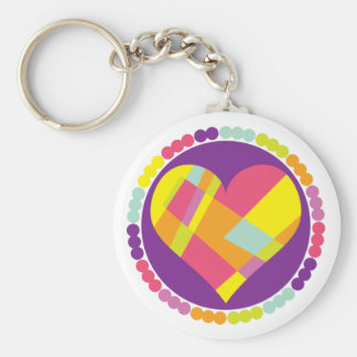 Stained Glass Heart Keychains