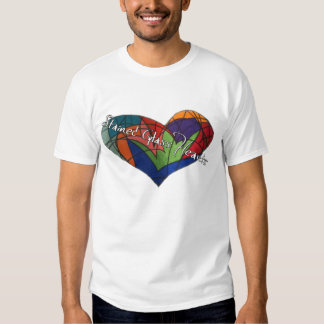 Stained Glass Heart logo T-shirt