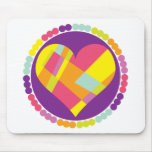 Stained Glass Heart Mouse Pad