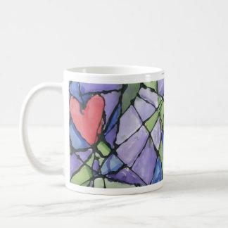 Stained Glass Heart Mug