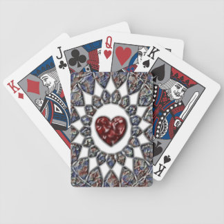 Stained Glass Heart Playing Cards