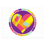 Stained Glass Heart Postcard