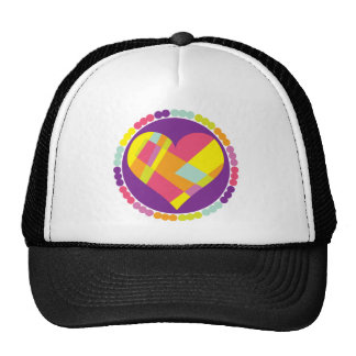 Stained Glass Heart Trucker Hat