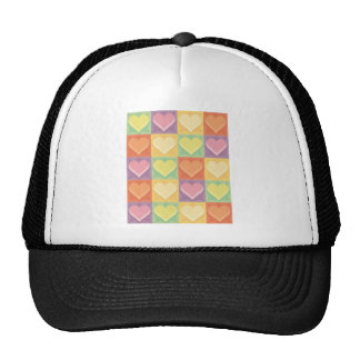 Stained Glass Hearts Trucker Hat