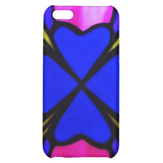 stained glass hearts iPhone 5C covers
