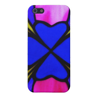 stained glass hearts iPhone 5 covers