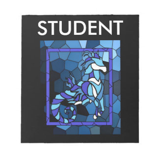 Stained Glass Hippocampus Notebook Notepad