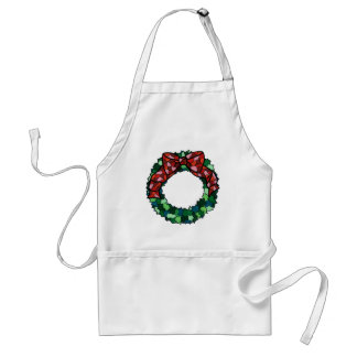 Stained Glass Holiday Wreath Aprons