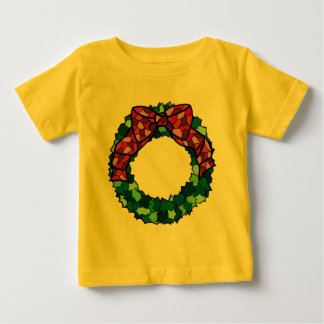 Stained Glass Holiday Wreath Baby T-Shirt