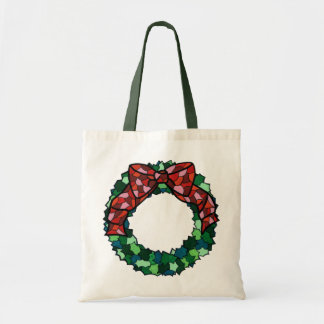 Stained Glass Holiday Wreath Bags