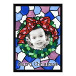 Stained Glass Holiday Wreath Invitations
