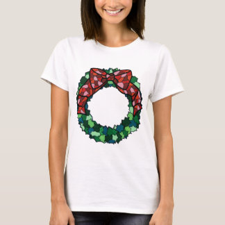 Stained Glass Holiday Wreath T-Shirt