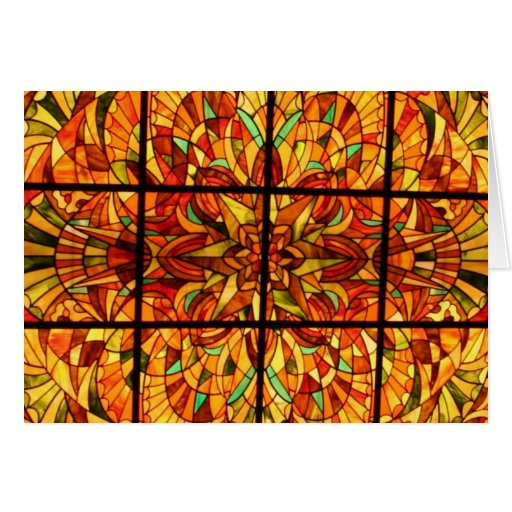 Stained Glass-Hong Kong Notecard Card