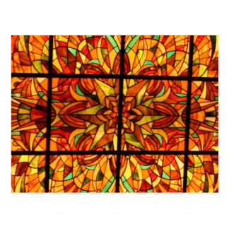 Stained Glass-Hong Kong Postcard