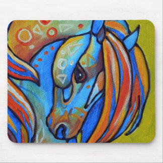 Stained Glass Horse 1 Mousepad