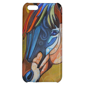 Stained Glass Horse 3 Case Savvy iPhone 5 Glossy Cover For iPhone 5C