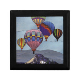 Stained glass hot air balloons gift box