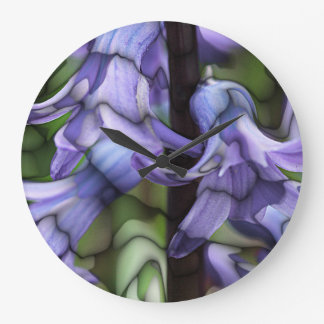 Stained Glass Hyacinths Clock