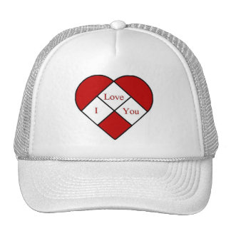 """Stained Glass """"I Love You"""" Heart Trucker Hat"""