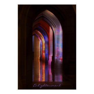 Stained Glass Illumination Poster