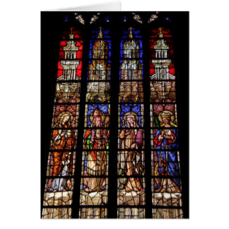 Stained glass in a church in Aix en Provence Greeting Card