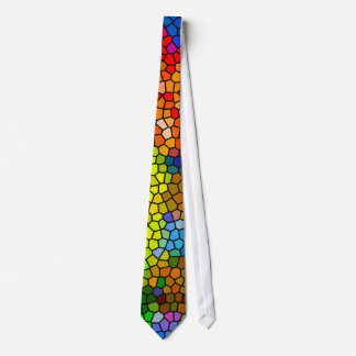 Stained Glass In Green, Pink  and Blue Tie