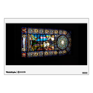 Stained Glass in Montserrat rectangular Wall Decal