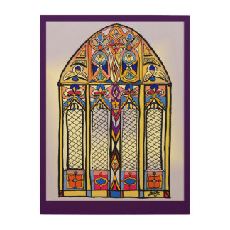 Stained Glass Inspired Art on Wood