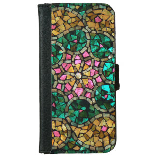 "Stained Glass iPhone 6 Wallet Case ""Pearl Star"""