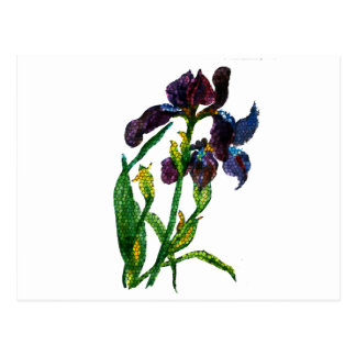 Stained Glass Iris Postcard