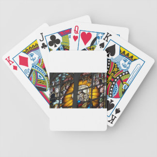 Stained Glass Jesus and Virgin Mary Bicycle Playing Cards